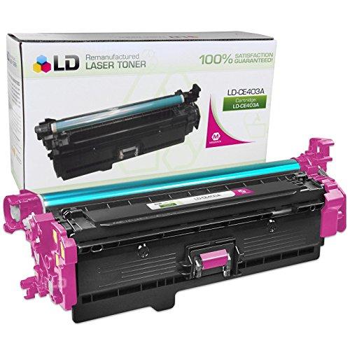 Laserjet 500 M575c Laser - LD Remanufactured Replacement for HP CE403A / 507A Magenta Laser Toner Cartridge for HP LaserJet Enterprise 500 Color M551dn, M551n, M551xh, MFP M575dn, MFP M575f, and MFP M575c
