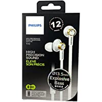 Philips In-ear High Precision Sound Headphone Headset Earphone + Mic Tx2 White