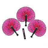 (US) 12 Pink Perfectly Paris Folding Fan Party Favors, Giveaways,gift Bag, Hot Pink Paris Fan - A Très Chic Party Favor
