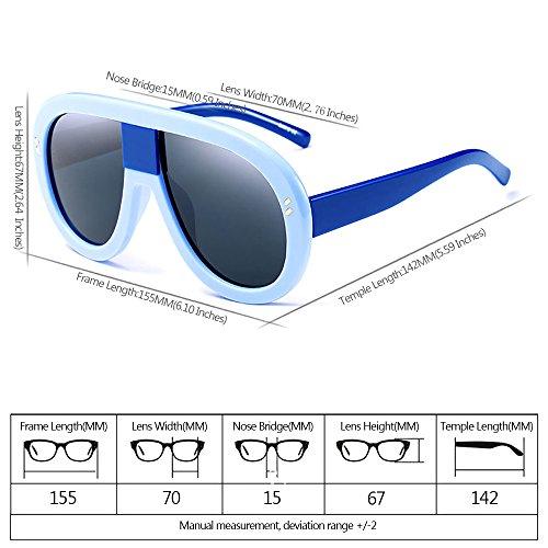 07 las de Gafas polarizadas sol XFentech No Mujeres Gafas Siameses UV400 para de Estilo Retro pw080q6x