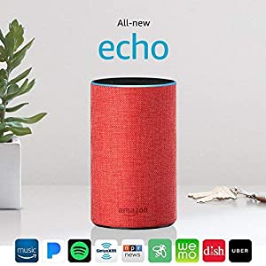 Echo (2nd Gen) - PRODUCT(RED) edition Bundle with Sengled Smart White Lighting Starter Kit (2 A19 bulbs + hub)