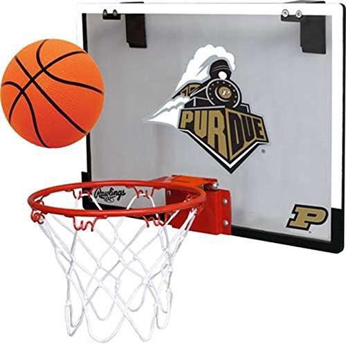Rawlings Purdue University Boiler Makers Indoor Basketball Hoop Set - Over The Door Game