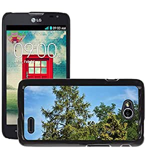Hot Style Cell Phone PC Hard Case Cover // M00309604 Tree Coniferous Green Nature // LG Optimus L70 MS323