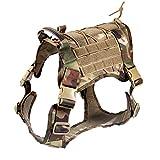 Feliscanis Tactical Dog Training Vest Harness Adjustable Service Dog Vest CP Szie M
