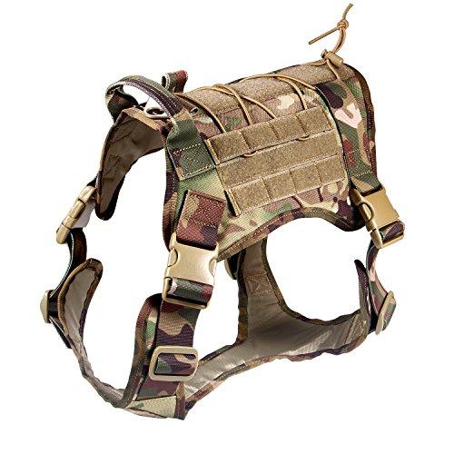 Feliscanis Tactical Dog Training Vest Harness Adjustable Service Dog Vest CP Szie L