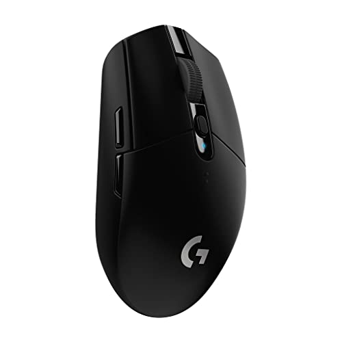 Logitech G305 Lightspeed Ratón Gaming Inalámbrico Captor Hero 12 000 dpi Ultra Ligero Batería de 250h Memoría Integrada Compatible con PC Mac Negro