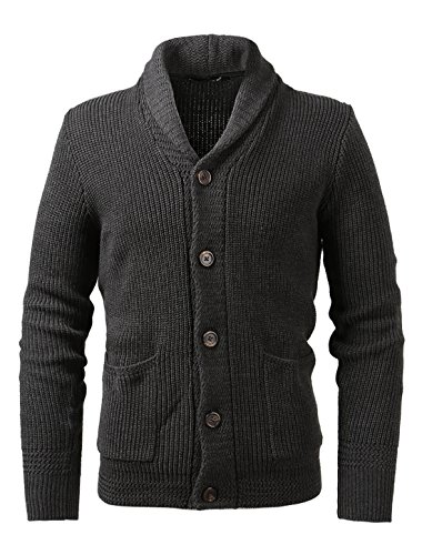 uxcell Pockets Breasted Sleeves Cardigan