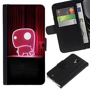 Ihec-Tech / Flip PU Cuero Cover Case para Samsung Galaxy S4 Mini i9190 MINI VERSION! - Cute Pink