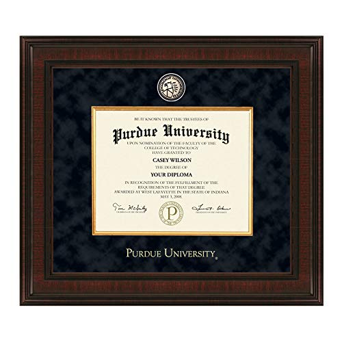 M. LA HART Purdue University Bachelors Diploma Frame - Excelsior