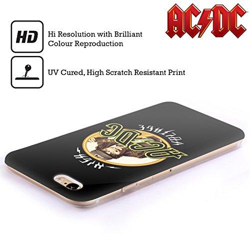 Officiel AC/DC ACDC Haute Tension Titres De Chanson Étui Coque en Gel molle pour Apple iPhone 5c