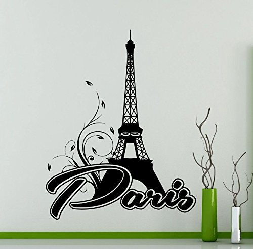 Paris Wall Decal Fashion France Logo Word French Eiffel Tower