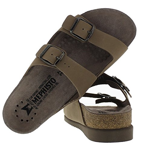 Mephisto Womens Harmony Leather Sandals Camel