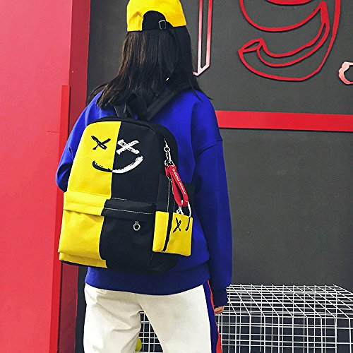 2Pcs School Messenger Women Travel Shoulder hi Yellow Smile primary Bookbags Pink running Hit Yellow coin Blue Color clutch Small Red White pursecoin Backpack holographic Girls organised cool Bag rqfxd60wr
