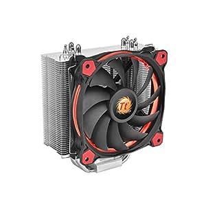 Thermaltake Riing Silent 12 - Ventilador de CPU, color negro y rojo