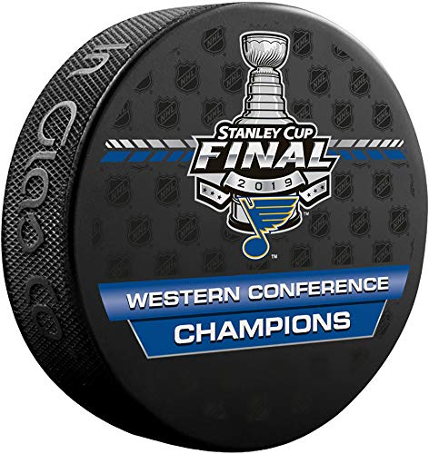 St. Louis Blues Unsigned InGlasCo 2019 Western Conference Champions Hockey Puck - Fanatics Authentic Certified from Sports Memorabilia