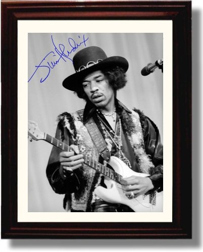 Framed Jimi Hendrix Autograph Replica Print