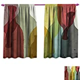 Best InterDesign Water Bottles - Wine Blackout Draperies Bedroom Abstract Composition Watercolor Silhouettes Review