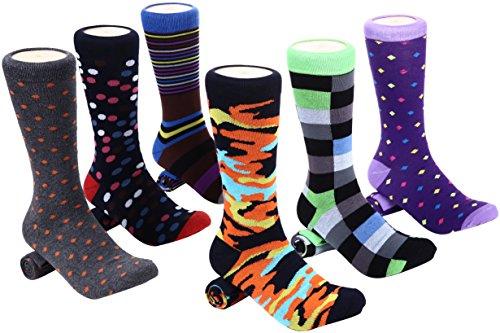 - Mio Marino Men's Dress Socks - Colorful Funky Socks for Men- 6 Pack