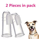 Product review for Leyouyou520 1 pair Dog Soft Finger Toothbrush Pet Oral Dental Brush Helps Reduce Plaque