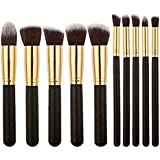 Foolzy® Set of 10 Professional Makeup Brushes Kit (BR-15F)