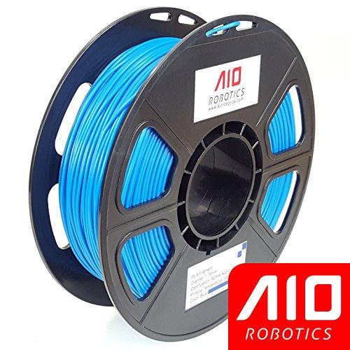 AIO Robotics AIOBLUE PLA 3D Printer Filament, 0.5 kg Spool, Dimensional Accuracy +/- 0.02 mm, 1.75 mm, Blue