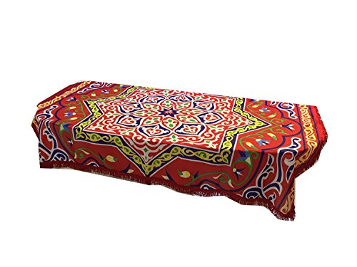 Memories Maker Ramadan Table Cloth with Red Fringes, 100cm L x 135cm W by Memories Maker