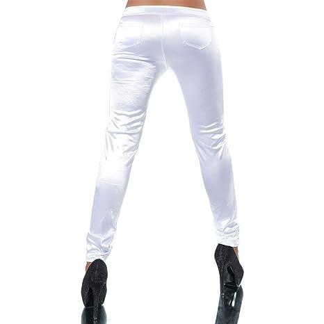 H094 Damen Jeans Hose Damenhose Röhrenjeans Satinhose Satin Röhrenhose Chino,  Farben Weiß, Größen 34 (Etikett 36)  Amazon.de  Bekleidung d66b0d4abc