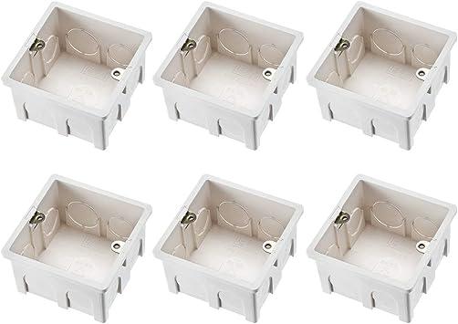 uxcell Caja de interruptor de pared con enchufe eléctrico para montaje en superficie, 2 unidades: Amazon.es: Bricolaje y herramientas