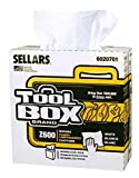 Sellars 6020701 ToolBox Z600 DRC Interfold Wipers, 16-1/2'' Length x 8-1/2'' Width, White (8 Boxes of 126 Sheets)