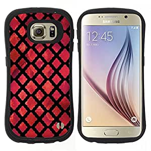 "Hypernova Slim Fit Dual Barniz Protector Caso Case Funda Para Samsung Galaxy S6 [Dios Iglesia Rojo Oscuro Negro""]"