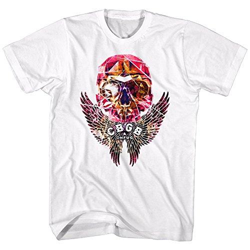 Xt Mens Wings (American Classics CBGB Music Faceted Skull Wings Adult Short Sleeve T Shirt XT)