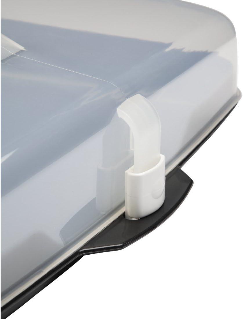 Xavax 00111514 /Ø 31.5 cm Recipiente para conservar y transportar tartas Antracita//Transparente