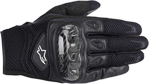 (NEW ALPINESTARS SMX-2 AIR CARBON ADULT LEATHER GLOVES, BLACK, XL)
