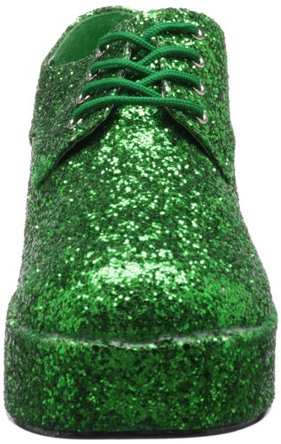 b PleaserJazz02 Uomo Glitter Green Brogue avxvwqAd