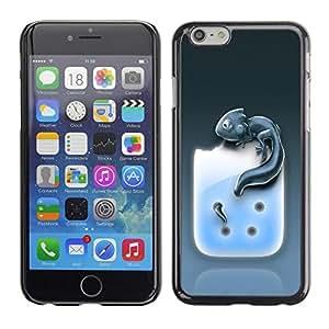 TECHCASE**Cubierta de la caja de protección la piel dura para el ** Apple iPhone 6 ** Cute Iguana