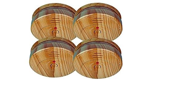 Smartwares RM149H - Juego de 4 detectores de humo en imitación madera, alarma de 85 dB, incluye batería: Amazon.es: Bricolaje y herramientas