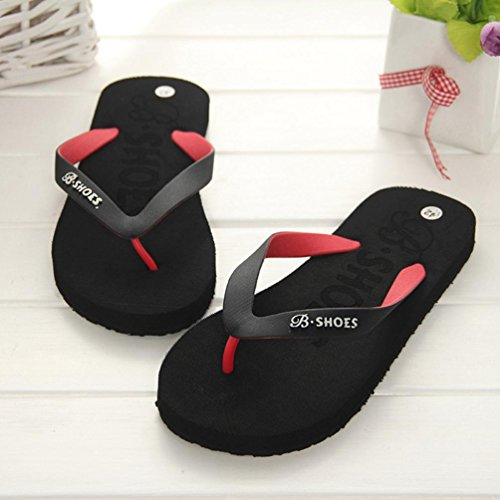 TAOtTAO Men Summer Flat Slipper Male Casual Street Style Non-slip Soft Flip Flop Sandal Sports Indoor and Outdoor Sliders Shoes (41, Black) Black