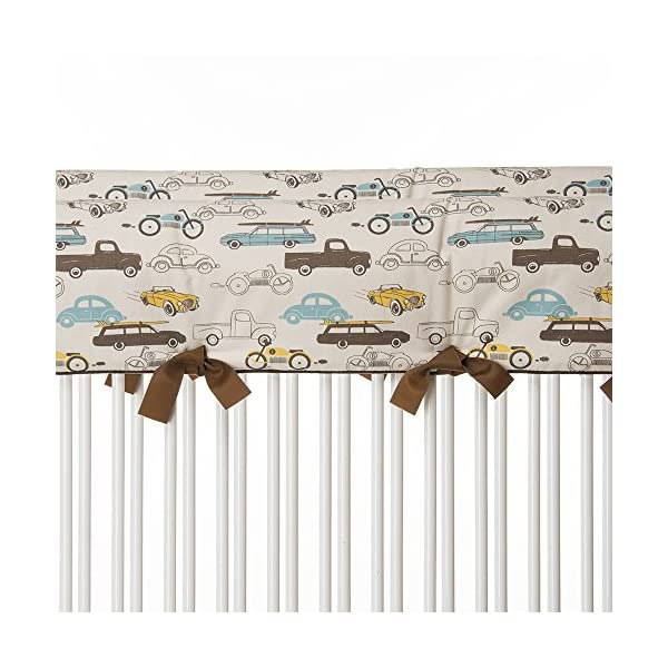 Sweet Potato Traffic Jam Convertible Crib Rail Protector, Short, 2 Count