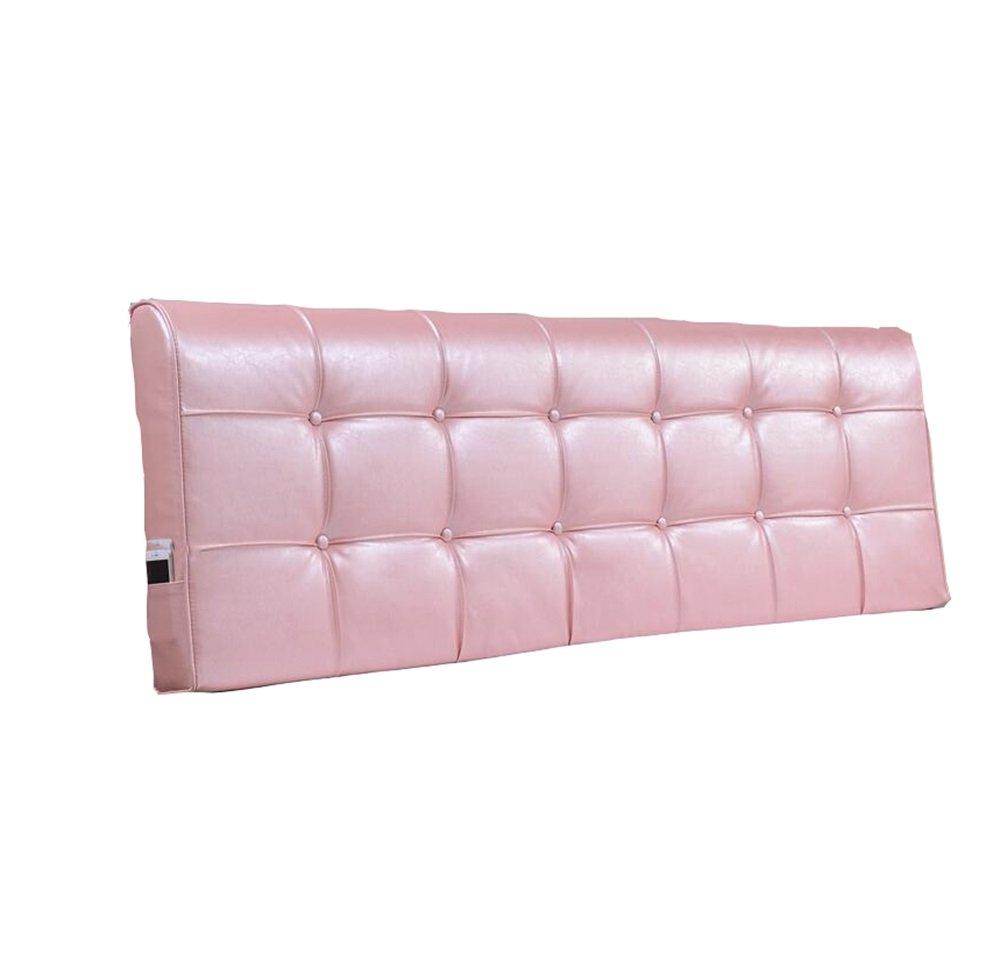 ベッドサイドの大きな背もたれ/大枕とファッションソリッドカラーダブルベッドヘッドレスト洋服レザーベッドサイドクッションピンクとパープル (色 : Pink, サイズ さいず : 155 * 58 * 10cm) B07DK7WGDD 155*58*10cm|Pink Pink 155*58*10cm