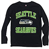 Seattle Seahawks NFL OuterStuff Navy Ovation Youth Long Sleeve Shirt