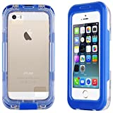 Blue Salamander Waterproof Snowproof Capsule Case for iPhone 4 / 4S, iPhone 5 / 5s / SE and iPhone 5C