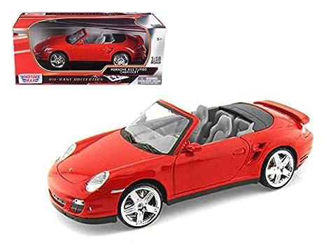 Motormax 73183 Porsche 911 (997) Turbo Convertible Red 1/18 Diecast Car Model