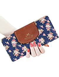 Womens Wallet Cute Floral Soft Leather Clutch Gift for Her, 2071