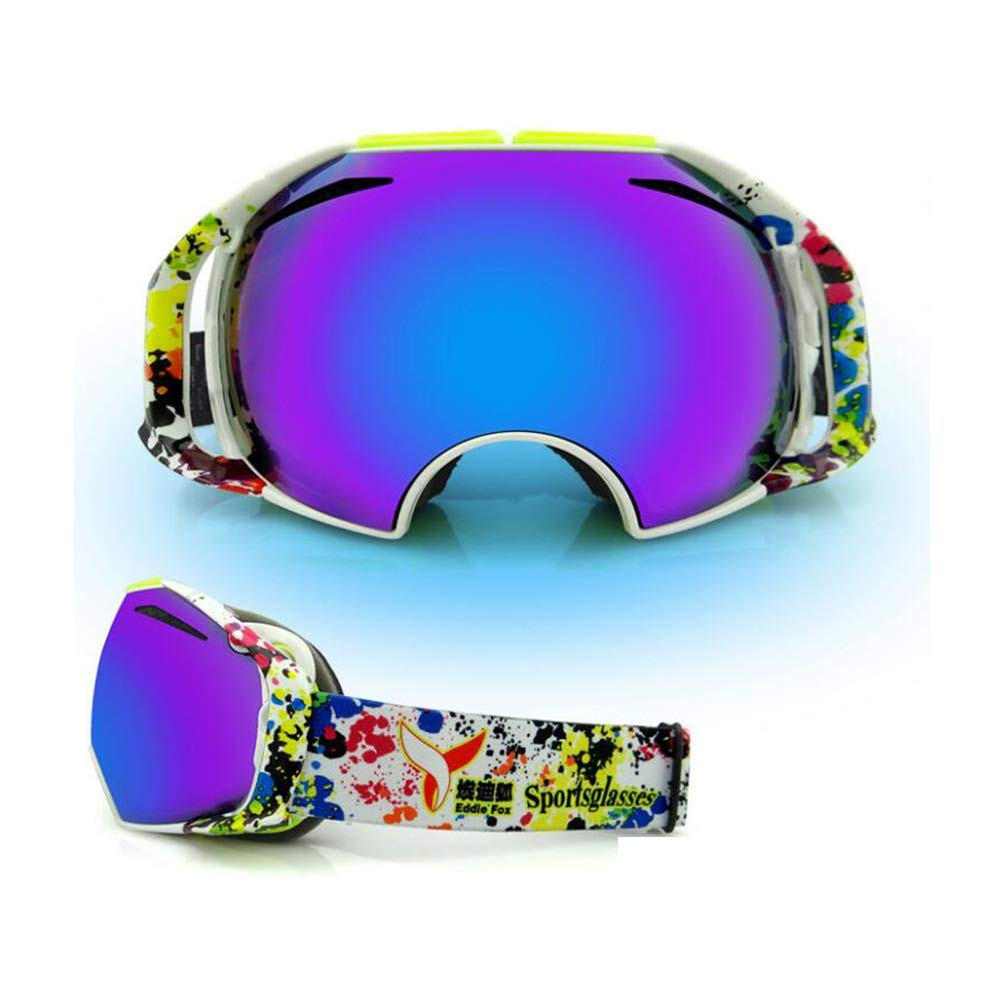 He-yanjing Ski Goggles for Men and Women,Anti-Fog Jet Snow Skiing Skis Goggles,Climbing Mirror,Jumper Mirror,Free Mirror,Fashion Outdoor Hiking ski Goggles (Color : C) by He-yanjing