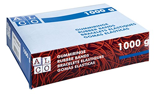 Alco-Albert 763/2Rubber Bands 200x 17mm, 1kg, Red
