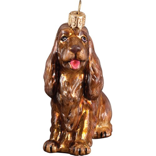 Sussex Spaniel Polish Glass Christmas Ornament Dog Tree Decoration (Spaniel Glass Ornament)