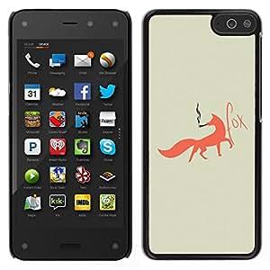 Caucho caso de Shell duro de la cubierta de accesorios de protección BY RAYDREAMMM - Amazon Fire Phone - Fox Foxy fumadores Arte Red Tail Bosque Animal