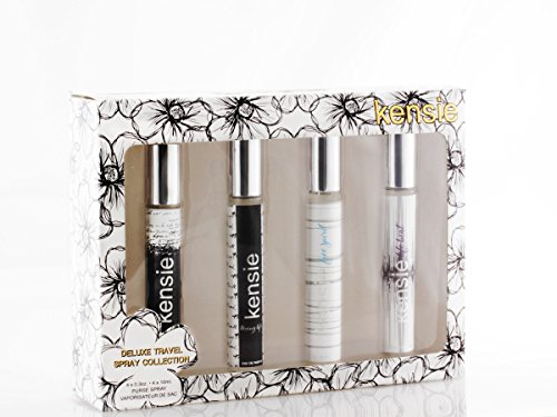 Kensie Fragrance 4 Piece Deluxe Travel Spray Collection