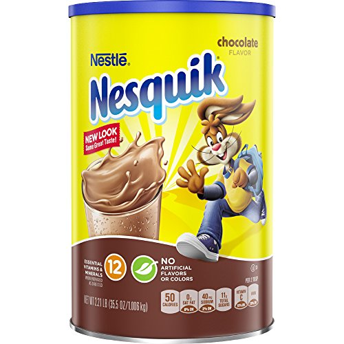 (Nesquik Powdered Drink Mix Canister, Chocolate, 35.5 Ounce)