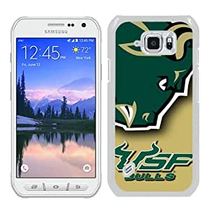 Hot Sale Samsung Galaxy S6 Active Case ,NCAA American Athletic Conference AAC Football South Florida Bulls 6 White Samsung Galaxy S6 Active Cover Unique And Beautiful Designed Phone Case